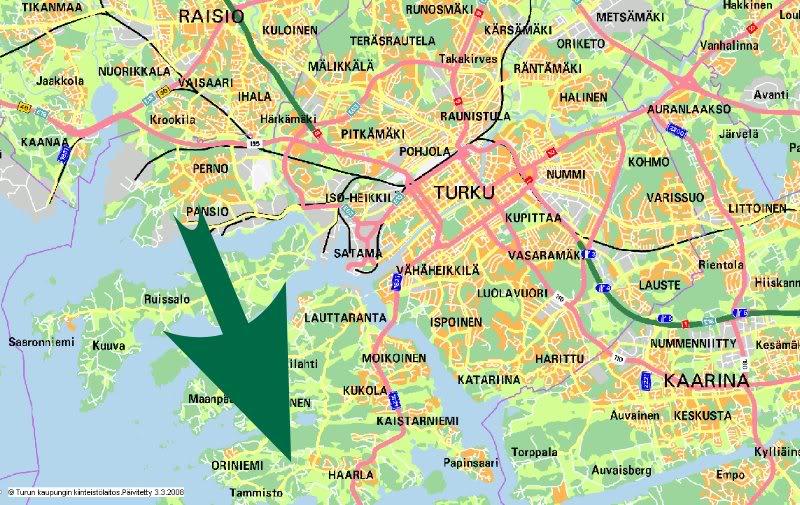 Oulun kaupunginosat kartta